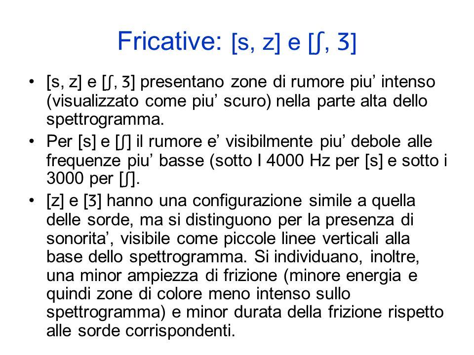 Fricative: [s, z] e [ʃ, Ʒ]